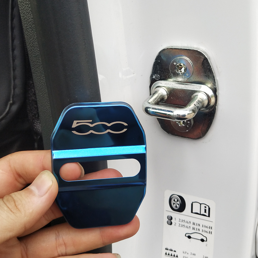 Auto Door Lock Cover Car Styling Case For Fiat 500 500L 500S  Car Emblems Accessories Car-Styling 4pcs/lot