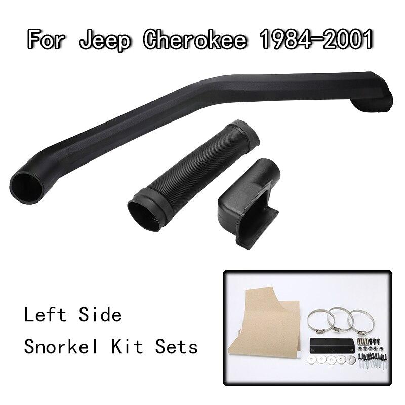 ABS Plastic Air Intake Rolling Head Snorkel Black For 1984-2001 Jeep Cherokee