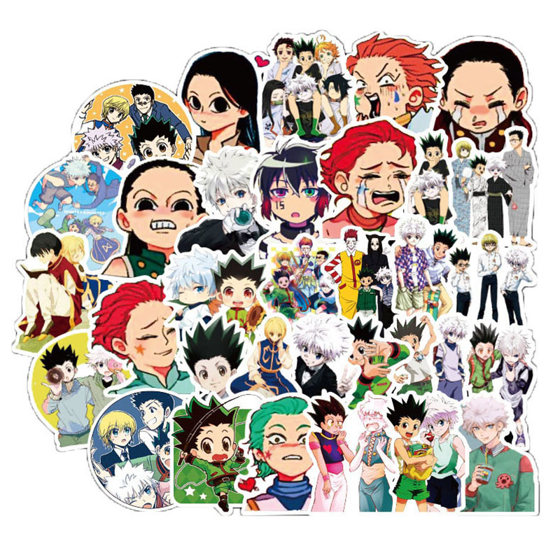 50Pcs Japanese Anime Hunter X Hunter  Waterproof Sticker for Luggage Wall Car Laptop Bicycle Motorcycle Notebook Toys Stickers