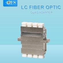 10 шт оптический волоконный разъем lc quad фланцевый соединитель