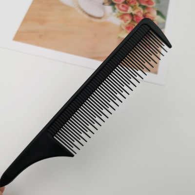 Nhựa Lược Chải Tóc Đuôi Ngựa Lược Đen Đẹp Tinh Răng Lược Chải Tóc Salon Tóc Kim Loại Dụng Cụ Tạo Kiểu Tóc Thợ Cắt Tóc Lược Chải Tóc