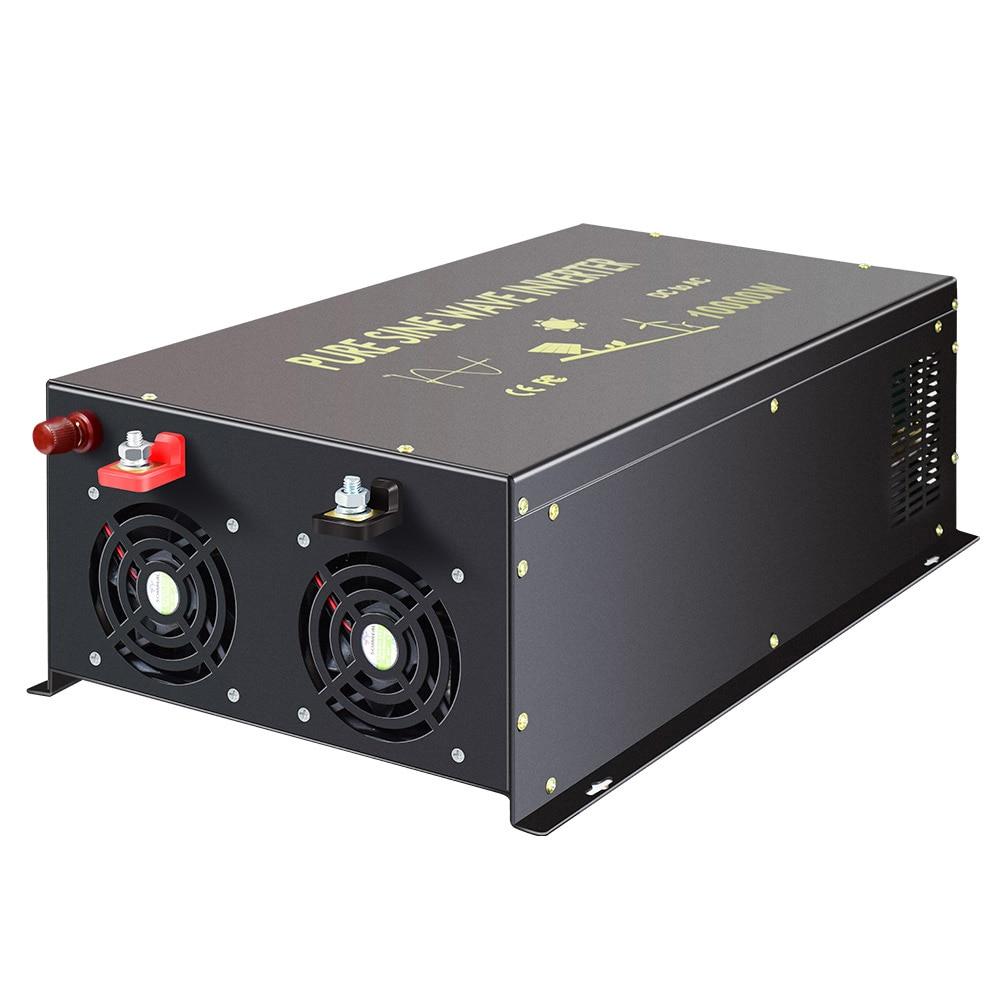 Inversor Solar de onda sinusoidal pura fuera de la Red 24V 220V 10000W inversor de corriente 12 V/24 V A convertidor de 120 V/220 V/240 V CC a ca con mando a distancia