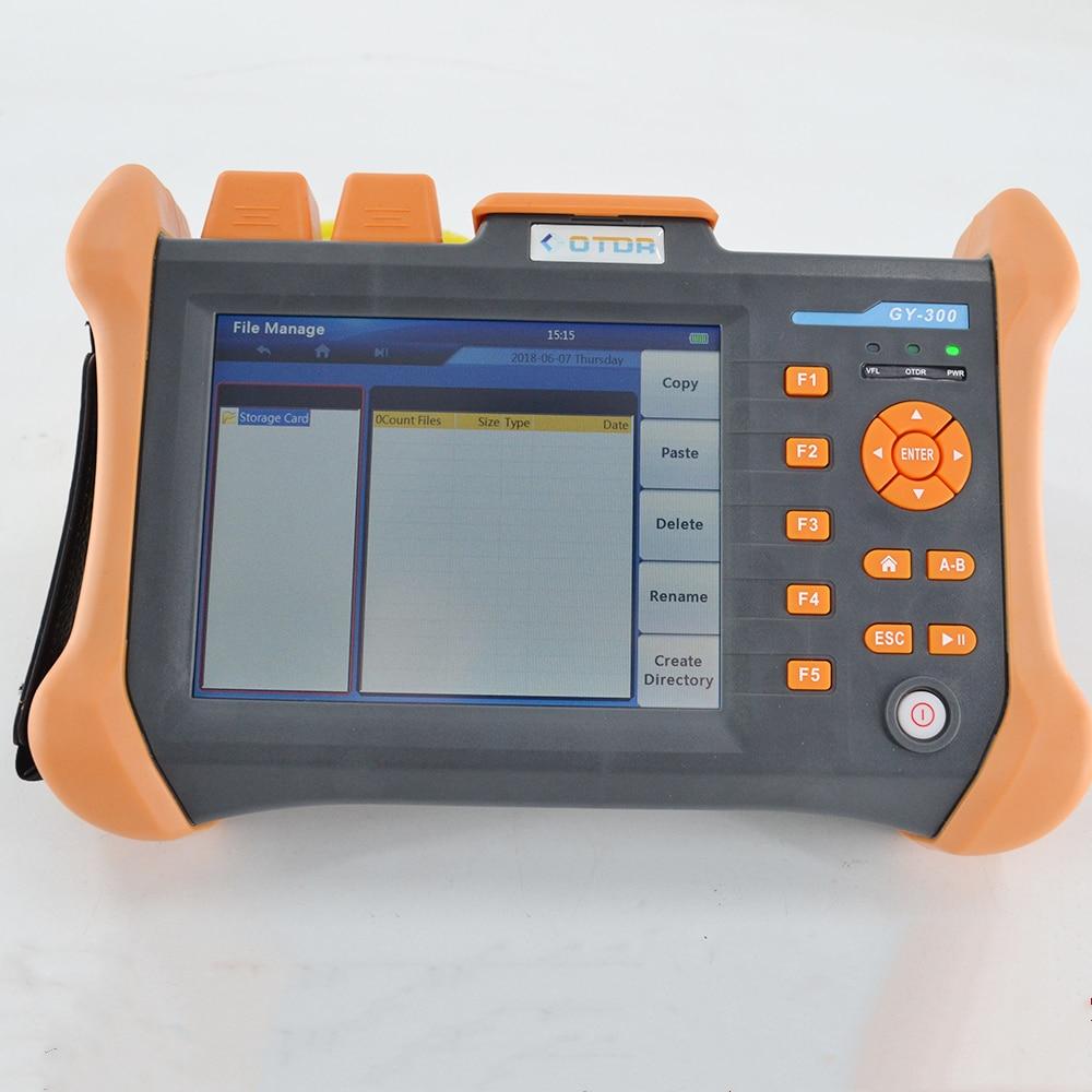 TMO-300-SM 32/30dB 1310/1550nm SM OTDR Tester Built-in 10mw Visual Fault Locator Optical Fiber Test