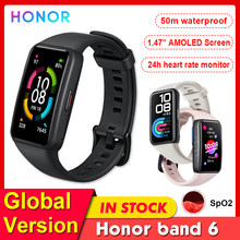 Global Version Honor Band 6 AMOLED Screen Smartes Watch Heart Rate/Blood Oxygen Monitor Smartwatches Waterproof Smart Bracelet
