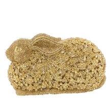 17.5x10.5CM Metallic Diamonds Women Animal Shape Rabbit Jewe