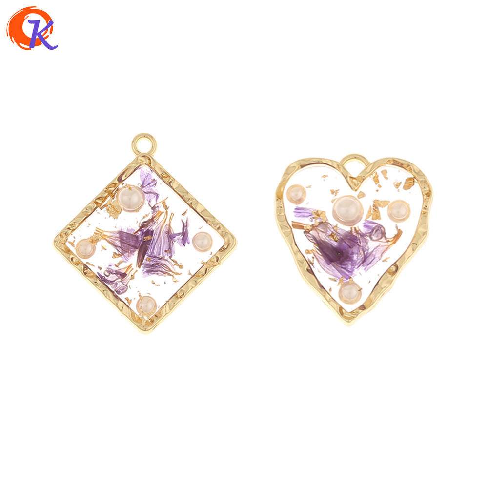 Cordial Design 50Pcs Jewelry Accessories/Charms/Dried Flower Effect/Imitation Pearl/Hand Made/DIY Pendant/Earring Findings
