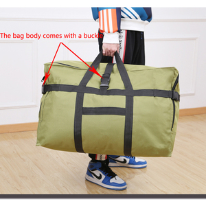 Image 5 - Large capacity luggage bag 158 air shipping package abroad study abroad moving bag Oxford cloth waterproof folding storage