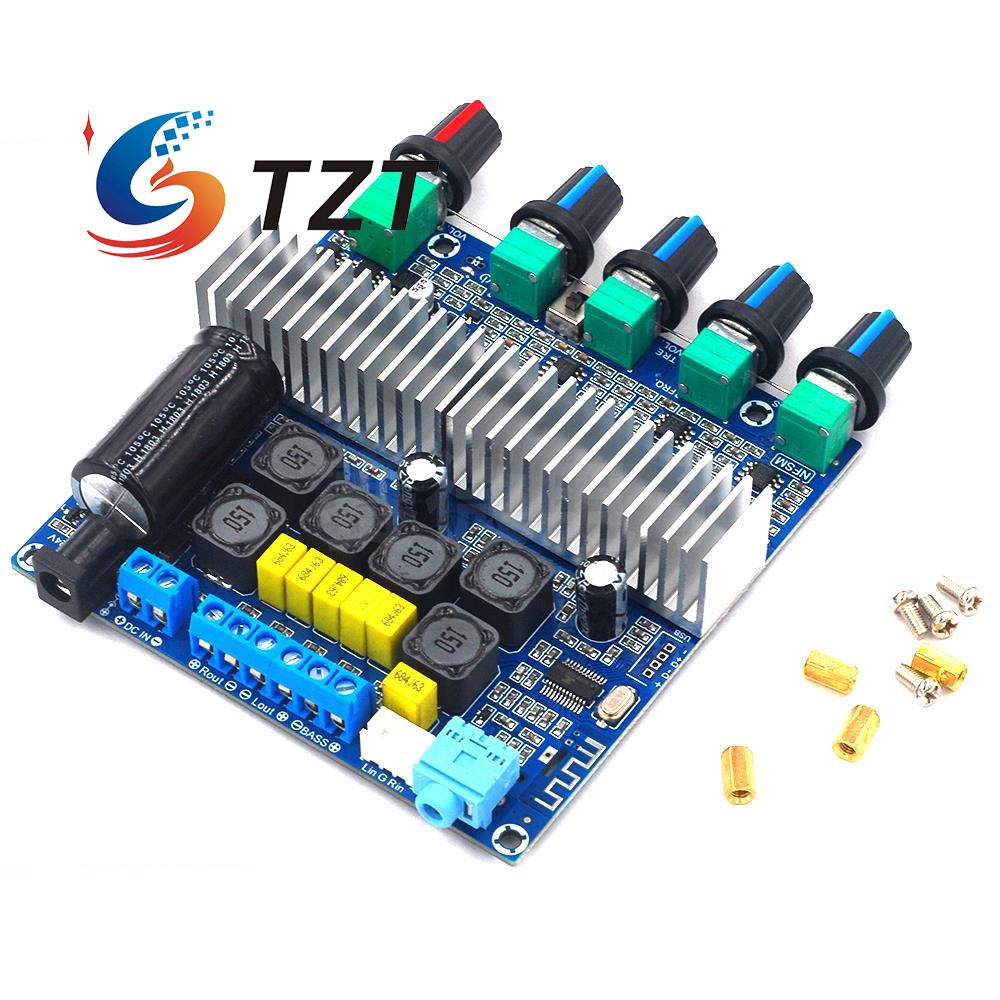 TZT <font><b>TPA3116</b></font> <font><b>2.1</b></font> Subwoofer <font><b>Bluetooth</b></font> Amplifier Digital Audio Board 50W*2+100W Bass AUX For <font><b>2.1</b></font> <font><b>Bluetooth</b></font> Speaker DIY image