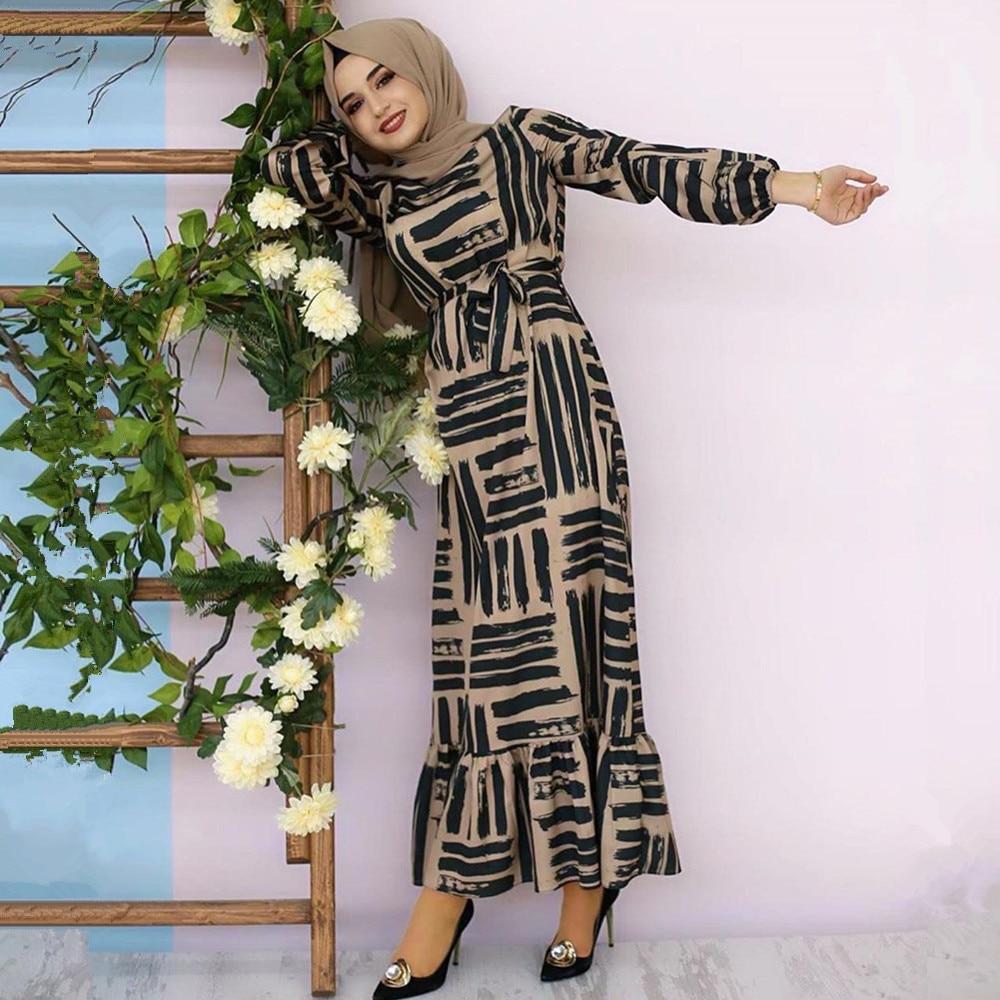 Eid Mubarak Muslim Fashion Dubai Abaya Turkish Hijab Summer Dress Islamic Clothing Women Robe Femme Ete Vestidos 3