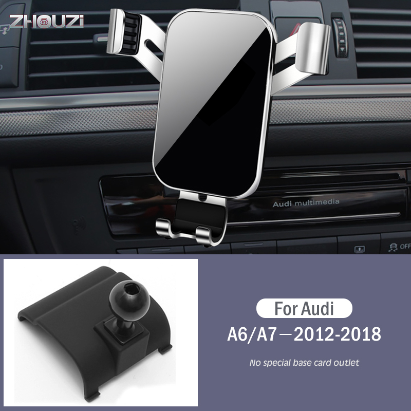 Car Mobile Phone Holder Air Vent Mounts Stand GPS Gravity Navigation Bracket For Audi A6 A7 4GH 4GJ 2012-2018 Car Accessories
