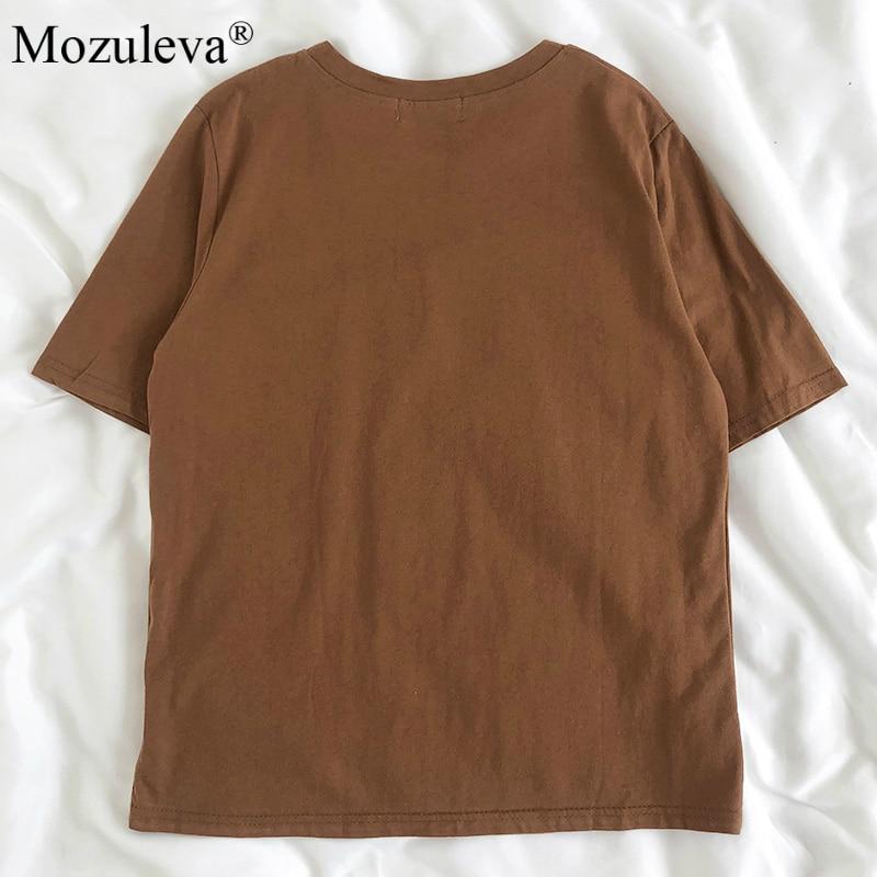 H92e7d9d0c39f4143b8c57ebbc5686af5k Mozuleva 2020 Chic Cartoon Bear Cotton Women T-shirt Summer Short Sleeve Female T Shirt Spring White O-neck Tees 100% Cotton