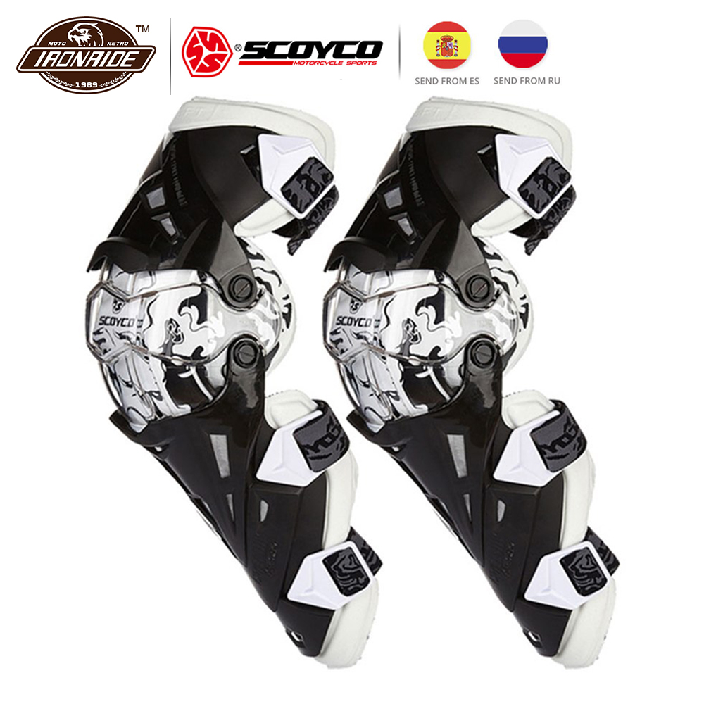 SCOYCO Motorcycle Knee Protector Knee Pad Motocross Knee Gurad Moto Protector Equipment Gear Motocross Guards for Racing Riding