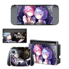 Re:Life in a diferente world from zero Skins for Nintendo Switch Skin Sticker for Nintendoswitch console Joy Con Controller