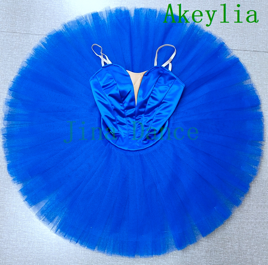 Royal Blue Performance Stage Ballet Tutu Dress Without Decoration Adult Classical Women white Professional Point Dance Tutus
