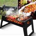 Charcoal Grill Portable Folding Stainless Steel for Outdoor Cooking Hiking Camping Equipment Titanium Picnic Set Chopsticks