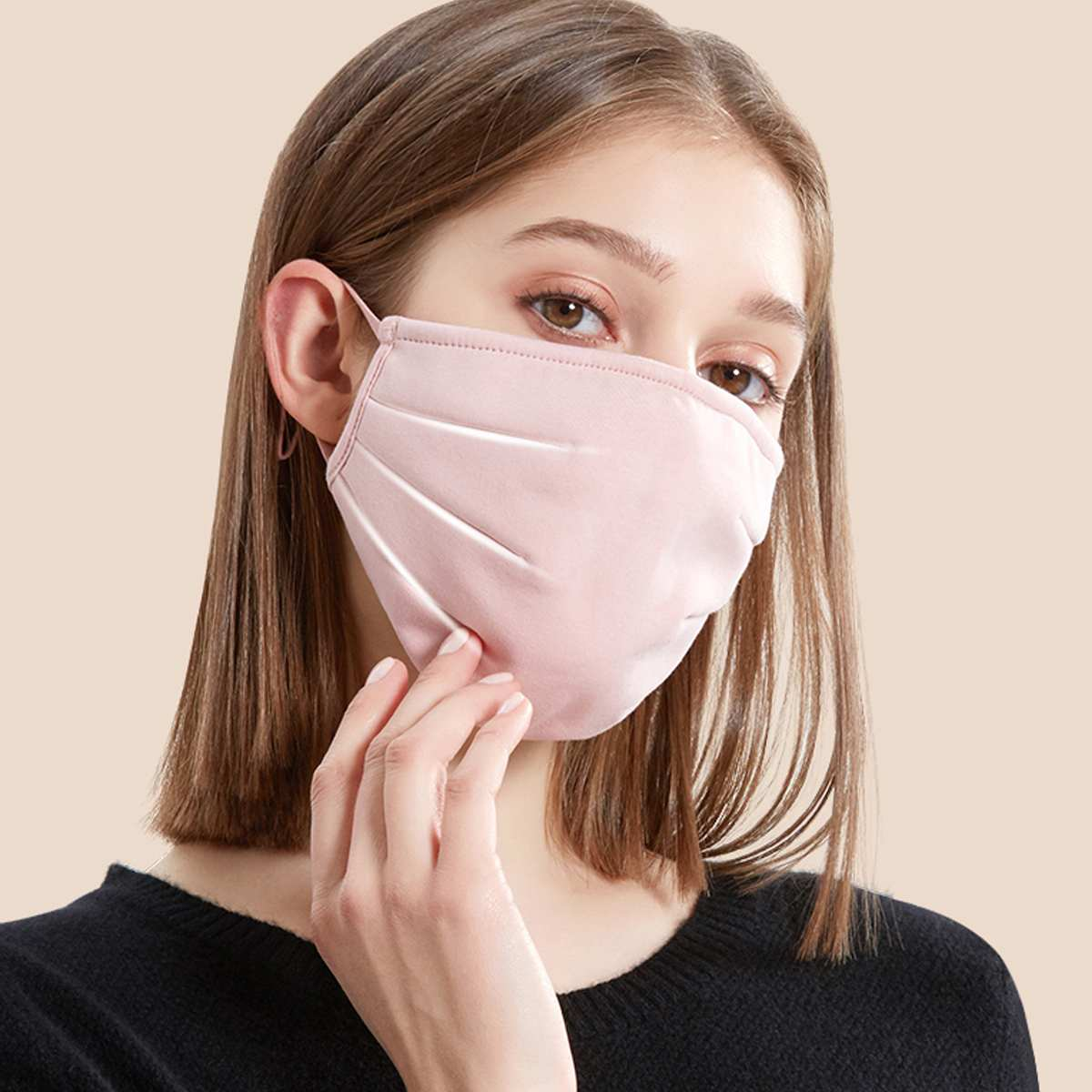 Black Face Mask Anti PM2.5 Air Pollution Mouth Face Mask Anti Dust Washed Reusable Masks Men Women 1