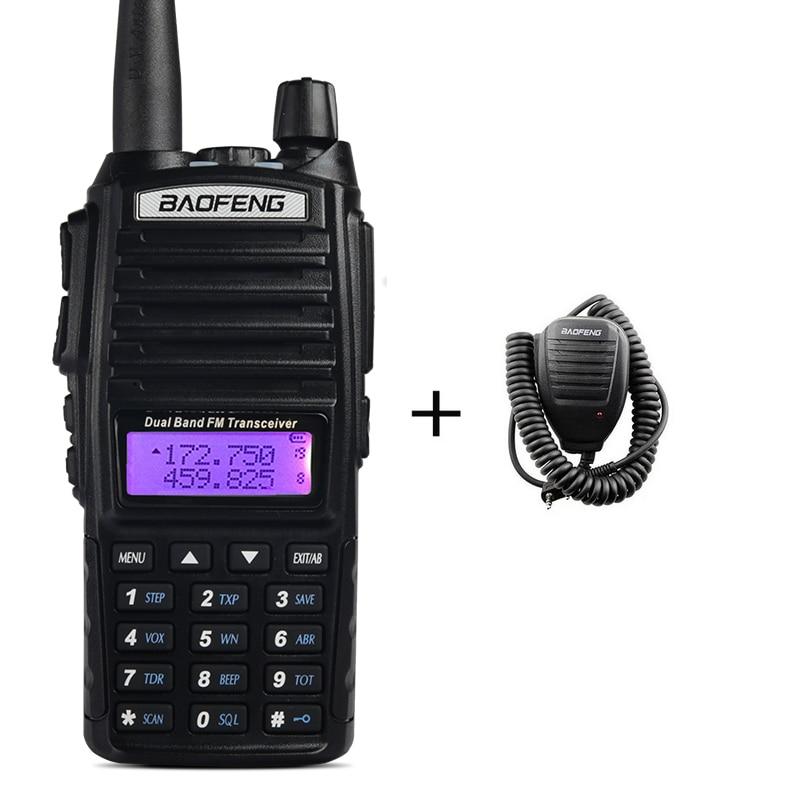 Walkie Talkie BaoFeng UV-82 Transceiver Dual-Band Hand Microphone FM 5 Watts Ham 2800mAh Battery Waterproof Two Way Radio