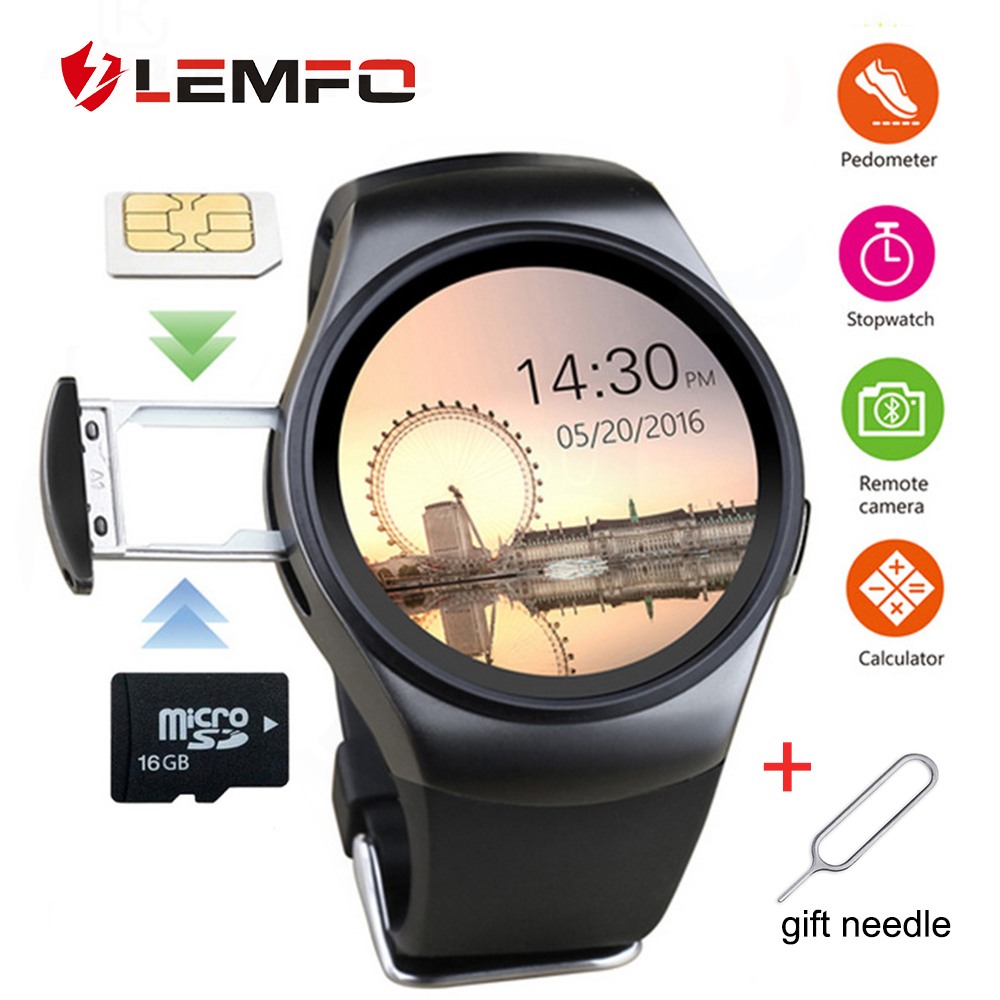 LEMFO KW18 Smart Watch Men Women Support Heart Rate Monitor SIM LET 3G TF Card Bluetooth Smartwatch For Android IOS