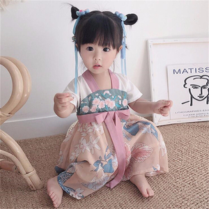 Baby Girls Cheongsam Dress 2020 New Kids Hanfu Chinese Style Printed Embroidery Dresses for Girl Princess Wedding Party Clothes