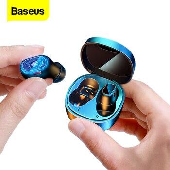 цена на Baseus WM01 TWS Wireless Headphones Mini Bluetooth Earphone True Wireless Earbuds HD Stereo Headset For Xiaomi iPhone Ear Buds