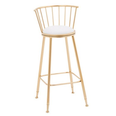 Nordic Bar Stool Combination Leisure Table And Chair    Wrought Iron  Gold High   Dining