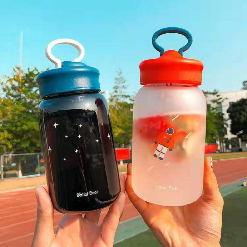 YRP Best selling Christmas gift high quality glass water bottle coffee cup Portable Drinks fruit juice cute