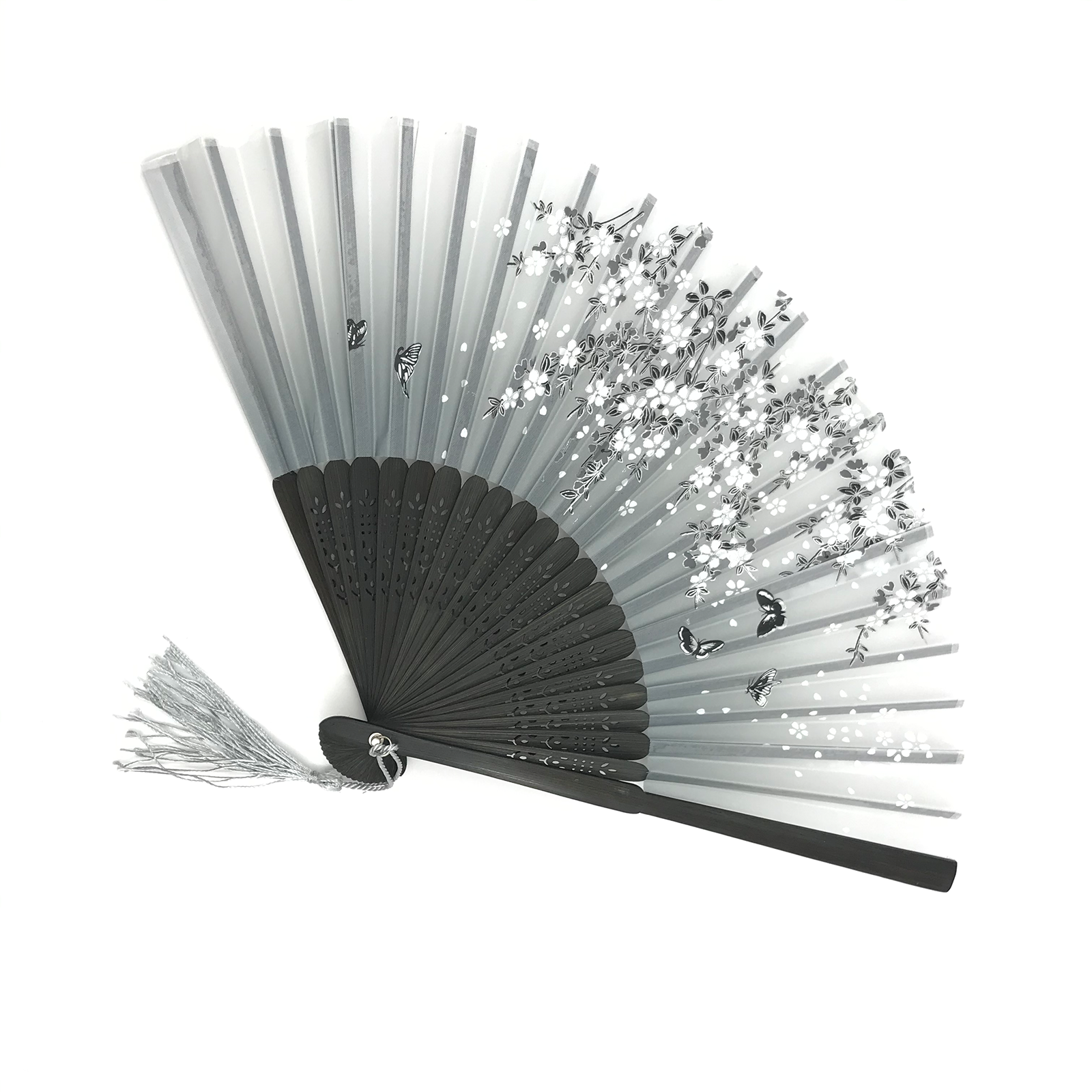 Ventilador plegable de estilo chino para verano, ventilador plegable para cosplay hecho a mano, ventilador chino, ventilador negro de madera|Abanicos decorativos|   - AliExpress
