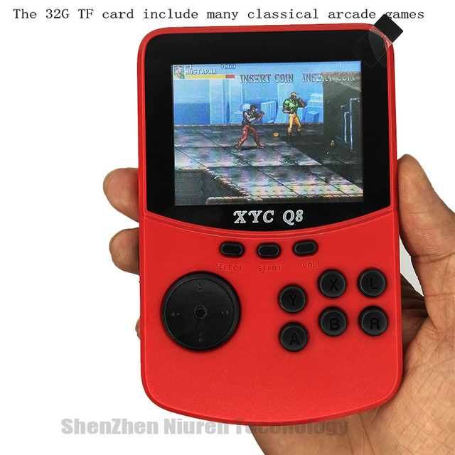 With 512M32G TF Card Retro Handheld Video Games Console For NESSNESMAMEMDGBA 16 Bit Arcade Game Players 10000 Games TV Out 4
