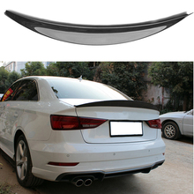HK Style High Quality Carbon Fiber Rear Wing Roof Trunk decorated Spoiler For Audi A3 S3 2014 - 2017