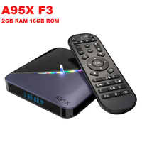 A95x f3 android 9.0 caixa de tv inteligente amlogic s905x3 2 gb ram 16 gb rom 5g wifi bluetooth 4.0 4 k rgb luz definir caixa superior