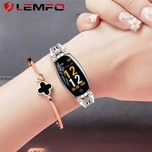 Lemfo feminino relógio inteligente monitor de freqüência cardíaca à prova dwaterproof água calorias câmera controle remoto relógio inteligente presente para a menina