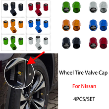4pcs Wheel Tire Valve Stoppers Caps For Nissan Tiida Sylphy Teana Note X-trail 1 2 T31