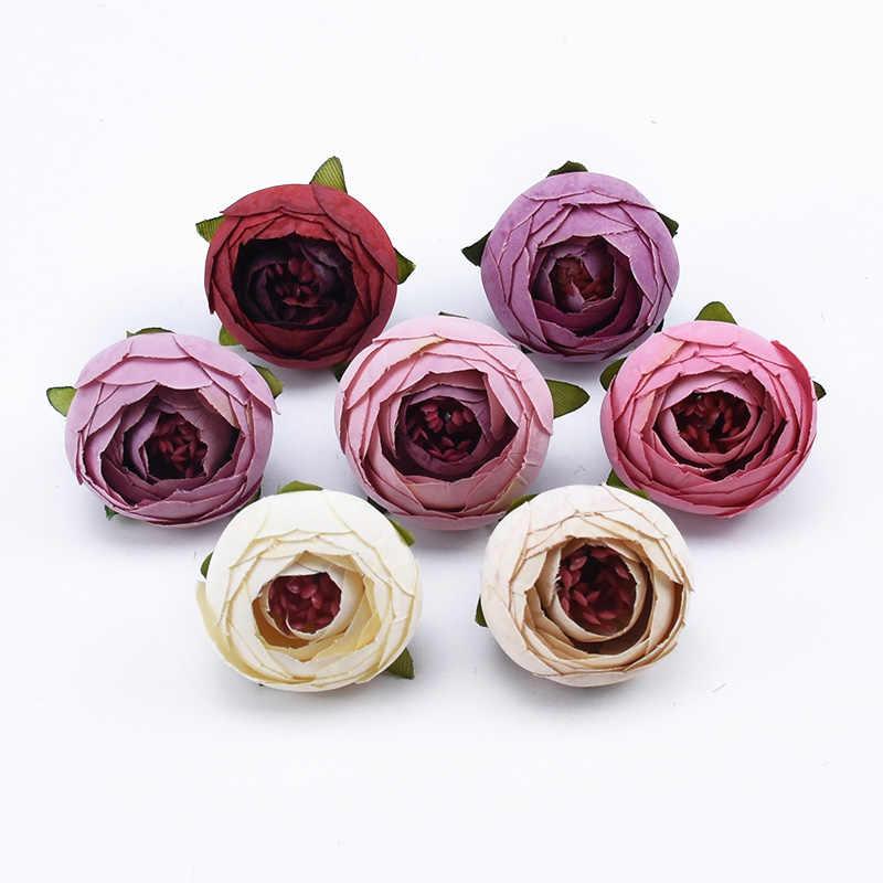 2/5/10 stück Tee knospen rosen kopf hochzeit braut zubehör freiheit wohnkultur diy geschenke candy box künstliche blumen wand