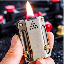Classic Retro Torch Lighter Pure Copper Kerosene Flint Grinding wheel Oil Petrol Windproof Inflated Gasoline
