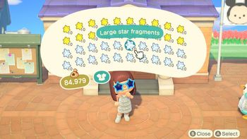 Animal Crossing Star Fragments Large Star Fragments Animal Crossing New Horizons Golden Set Nook Mile Ticket Fish Bait Material