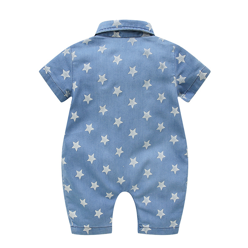 Newborn Baby Clothes Summer Baby Romper Cartoon Denim Jumpsuit Unisex Baby Clothes Kids Costume For Baby Boys Clothes 3 24 Month