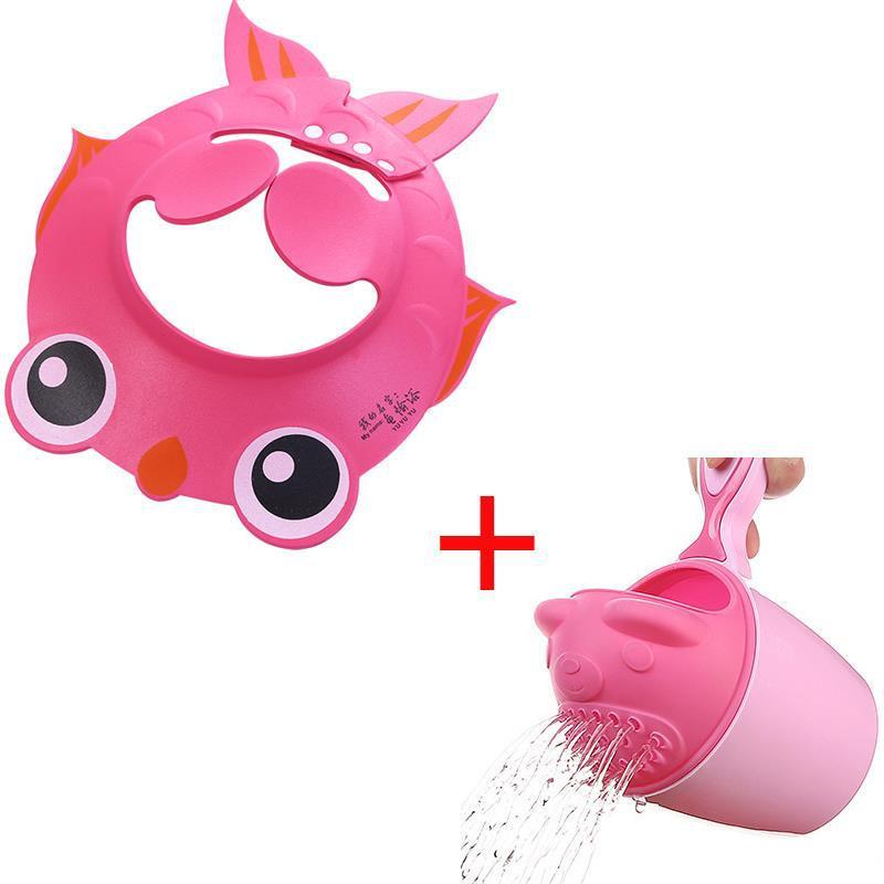 Baby Shower Cap Waterproof Infant Useful Product Children CHILDREN'S Bath Cap Silica Gel Adjustable Shower Cap CHILDREN'S Earmuf