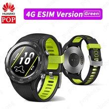 オリジナル huawei watch 2 スポーツ smartwach huawei watch 2 2018 ブルートゥースアンドロイド ios IP68 防水 nfc gps (sim 4 4g lte オプション)