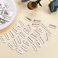 100 Pcs Alloy Inspirational Pendant Findings Charms For Jewelry Making Necklace DIY Bracelet Making Accessories 10pcs blue cute eye charms connectors pendant handmade for diy necklace bracelet jewelry making alloy accessories