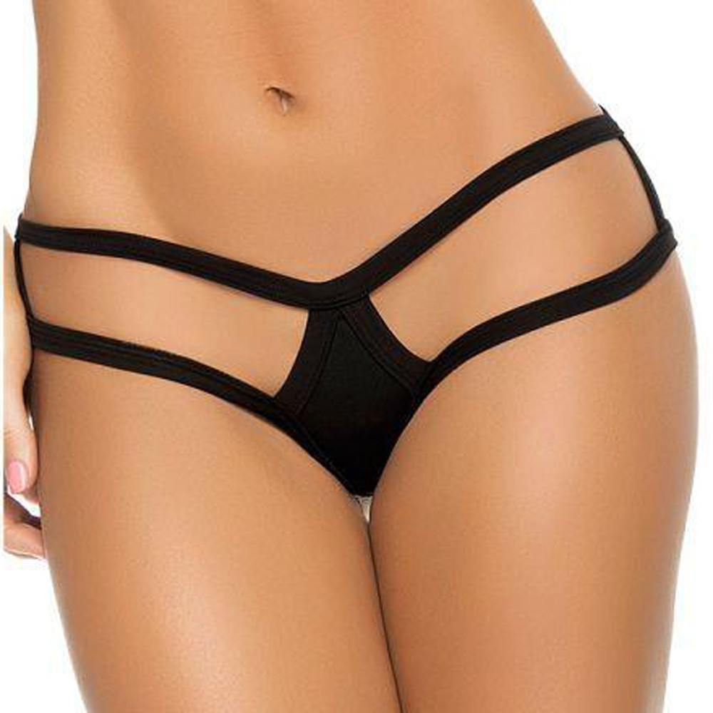 Plus Size Women Porno Sexy Lingerie String Solid Sexo Briefs Sexy Underwear Hollow Out Panties Costumes Erotic Babydoll Thongs