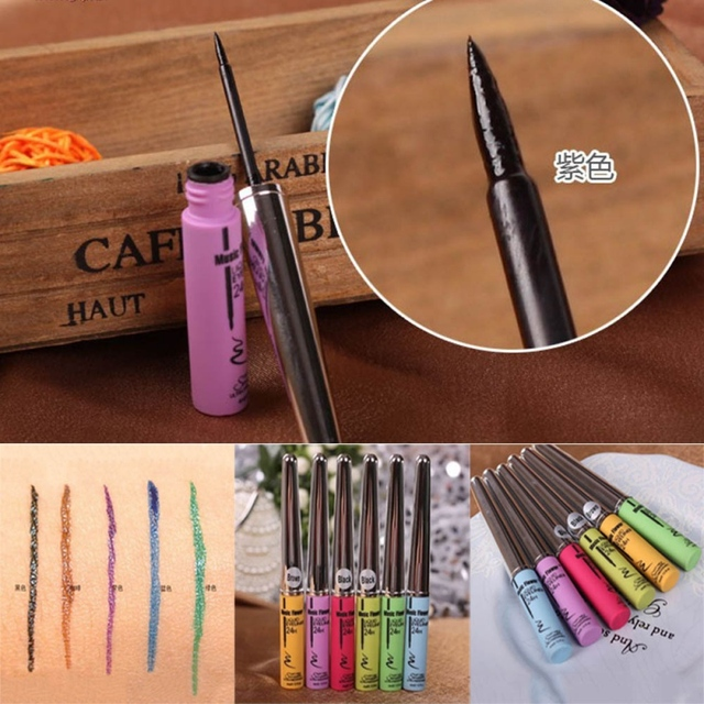 Chaude dame imperméable à leau pas floraison Eyeliner liquide beauté Eye Liner stylo maquillage naturel d1
