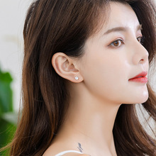 Drop Shipping 925 Jewelry  1.0 Carats Stud Earring For Man Woman  S925 Stlerling Silver White Zirconia CZ for Anniversary Gift
