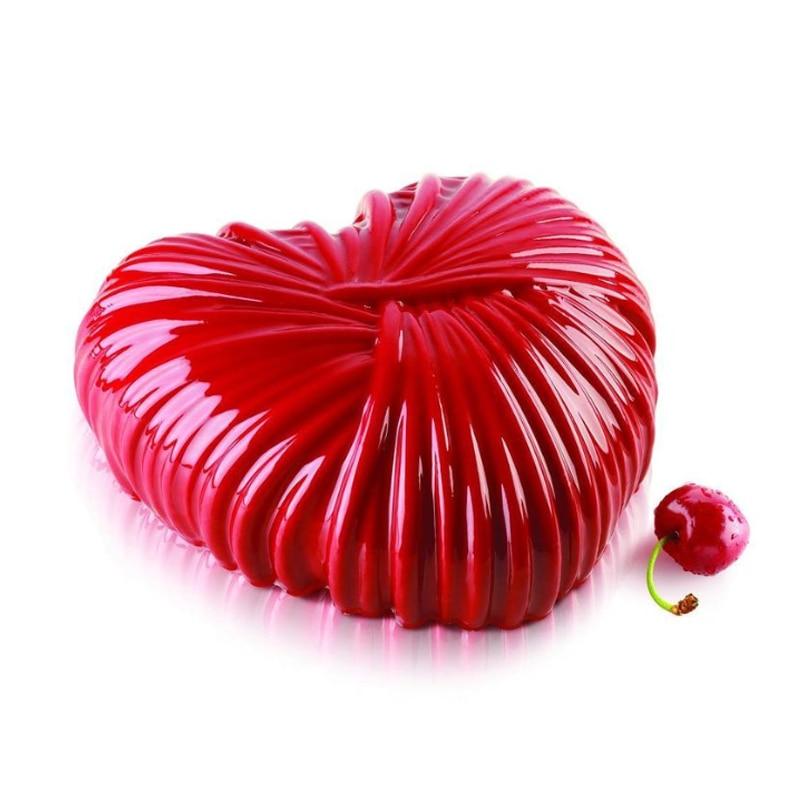 Shenhong woolen coração molde de silicone para o dia dos namorados molde mousse bolo festival sobremesa ferramentas de decoração pastelaria assadeira