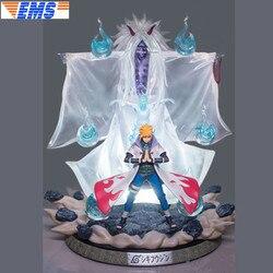 22 Наруто статуя племя огня бюст намикадзэ Минато полный Длина портрет Узумаки Наруто GK фигурку модель Ящик для игрушек 55 см Z2851