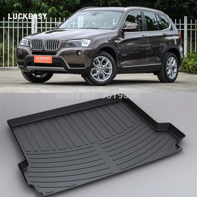 LUCKEASY For BMW X3 12-17 Non-Slip Waterproof 3D TPO Trunk Boot Cargo Mat Recycled Durable Car-styling
