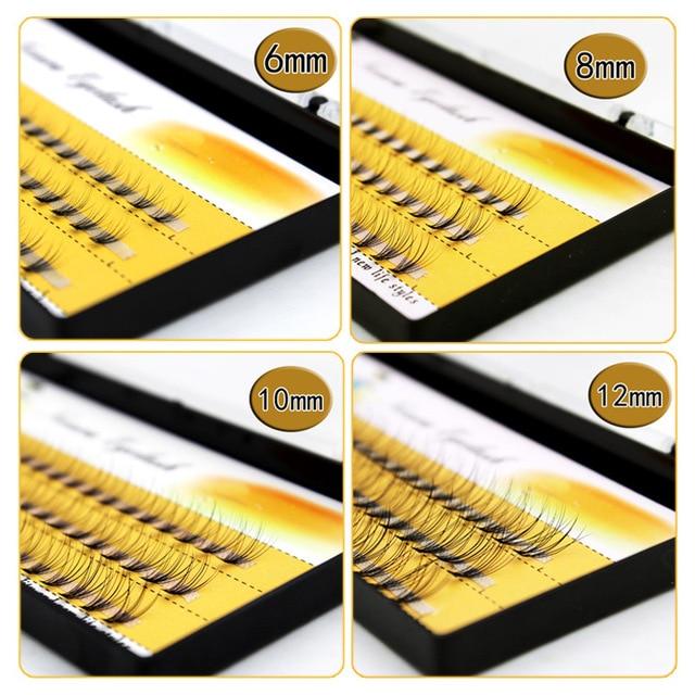 1 Box Big Capacity 60 Bundles 10D Eyelash Extensions 0.07mm Thickness Handmade 3D Individual Lashes Natural Style 4