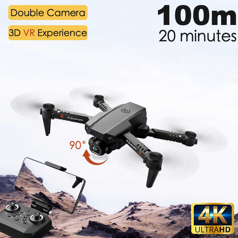 2020 Nieuwe XT6 Mini 4K Drone Hd Dubbele Camera Wifi Fpv Luchtdruk Hoogte Hold Opvouwbare Quadcopter Rc Helicopter kind Speelgoed Gift