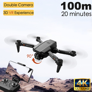 2020 New XT6 Mini 4K Drone HD Double Camera WiFi Fpv Air Pressure Altitude Hold Foldable Quadcopter rc helicopter child Toy Gift