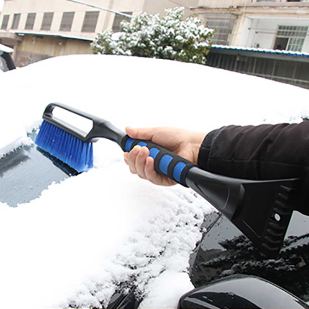 Qiilu Stainless Steel Mini Car Vehicle Snow Shovel Ice Scraper Removal Cleaning Tool