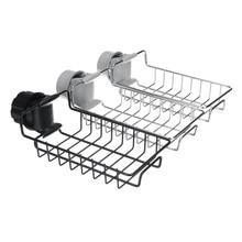 Stainless Steel Hanging Storage Rack Holder Faucet Clip Bathroom Kitchen Dishcloth Clip Shelf Drain Dry Towel Organizer